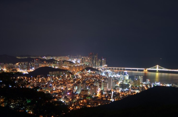 Night View of Busan City