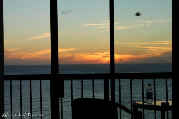Hyatt Regency Waikiki sunset view