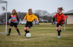 girls youth soccer game