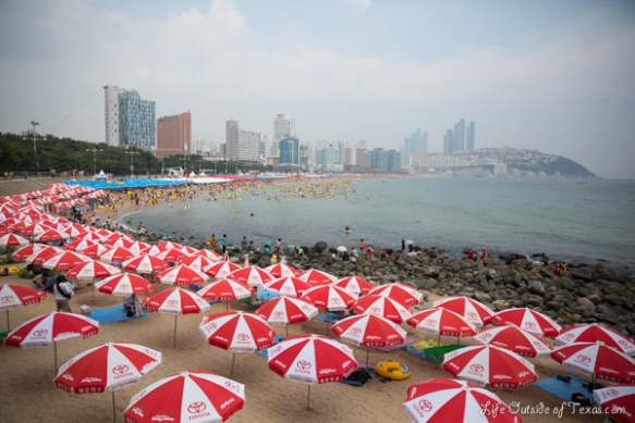 Haeundae Beach in summer