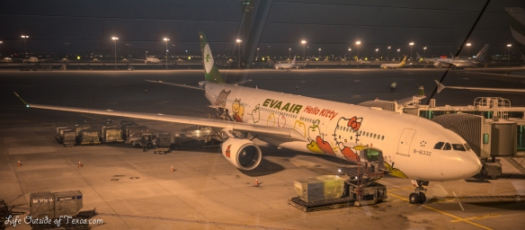 Flying EVA Air With Hello Kitty