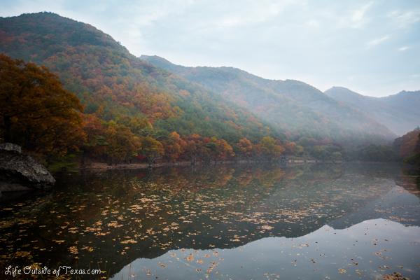 Jusanji Korea at sunrise