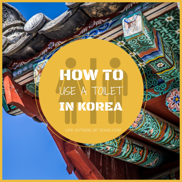 How to use a toilet in Korea