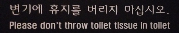Toilet in Korea