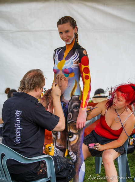 Bright works from the Daegu body painting festival