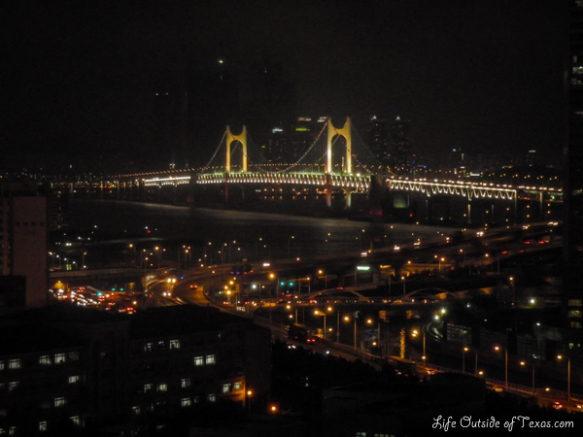 Gwanganli Diamond Bridge at Night | LifeOutsideOfTexas.com